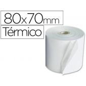 Rolos para maquina calculadora termicos 80x70x11mm 58 grs