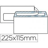 Envelope americano 115x225mm com janela esquerda