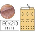 Envelope borbulhas q-connect creme c/0 150x210 mm caixa de 100