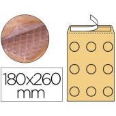 Envelope borbulhas q-connect creme d/1 180x260 mm caixa de 100