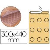 Envelope borbulhas q-connect creme j/6 300x440 mm caixa de 50 un