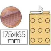 Envelope borbulhas q-connect creme cd 200x175 mm caixa de 100