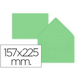 Envelope liderpapel c5-ea5 verde 157x225mm 80 gr -pack de 9 unidades