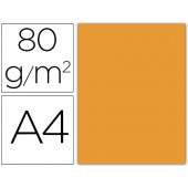 Papel de cor liderpapel din a4 80 gr laranja -pack de 15 folhas