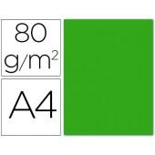 Papel de cor liderpapel din a4 80 gr verde -pack de 15 folhas