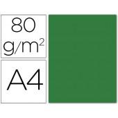 Papel de cor liderpapel din a4 80 gr verde acebo -pack de 15 folhas