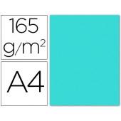 Papel de cor liderpapel din a4 165 gr azul celeste -pack de 9 folhas