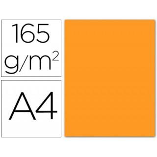 Papel de cor liderpapel din a4 165 gr laranja -pack 9 de folhas