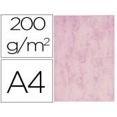 Cartolina marmoreada din a4 200 gr cor rosa embalagem de 100 folhas
