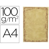 Papel pergamino liderpapel din a4 orla 100 g/m2 paquete de 12 hojas