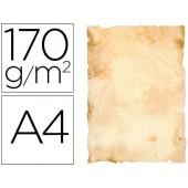 Papel pergamino liderpapel din a4 papiros con bordes 170 g/m2 paquete de 8 hojas