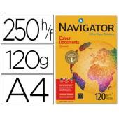 Papel fotocopia navigator. a4. emb. 250 folhas. 120 grs