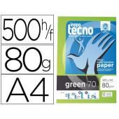 Papel fotocopia inapa tecnogreen 100 % reciclado din a4 80 gramas embalagem de 500 folhas