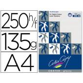 Papel color copy glossy. emb. 250 fls. 135 grs. a4