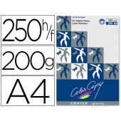 Papel color copy glossy. emb. 250 fls. 200 grs. a4