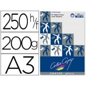 Papel color copy glossy. emb. 250 fls. 200 grs. a3