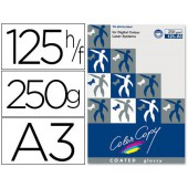 Papel color copy glossy. emb. 125 fls. 250 grs. a3