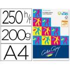 Papel color copy brilhante a4250 fls 200 grs