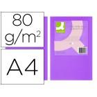 Papel de cor q-connect din a4 80gr lilasss embalagem de 500 folhas