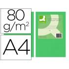 Papel de cor q-connect din a4 80gr verde intenso embalagem de 500 folhas