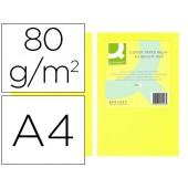 Papel de cor q-connect din a4 80gr amarelo neon embalagem de 500 folhas