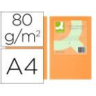 Papel de cor q-connect din a4 80gr laranja neon embalagem de 500 folhas
