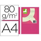 Papel de cor q-connect din a4 80gr rosa neon embalagem de 500 folhas