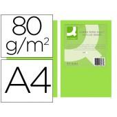 Papel de cor q-connect din a4 80gr verde neon embalagem de 500 folhas
