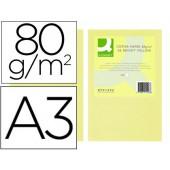 Papel de cor q-connect din a3 80gr champagne embalagem de 500 folhas