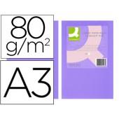 Papel de cor q-connect din a3 80gr lilass embalagem de 500 folhas