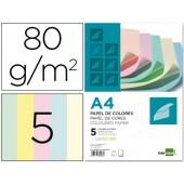 Papel de cor liderpapel din-a4 80 gr pack de 500. 100 folhas por cores sortidas