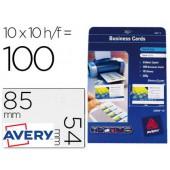 Cartoes de visita avery imprimeveis para laser 220gr - 100 unidades