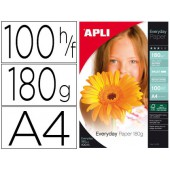 Papel fotografico apli glosse din a-4 pack 100 folhas de 180 grs