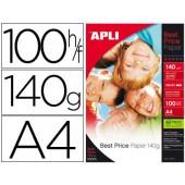 Papel fotografico apli glossy din a4 pack de 100 folhas 140 gr