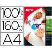 Papel fotografico apli glossy dupla face din a4 pack de 100 folhas 160 gr