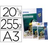 Papel epson premium glossy photo paper a3 (20 folhas) 255gr.