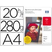 Papel fotografico hp premium plus. 280 grs. a4. caixa20 fls