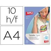 Papel transfer para t-shirts brancas formato a4 caixa de 10 folhas