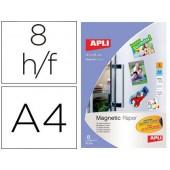 Papel magnetico apli branco din a4 para impressoras inkjet pack de 8 folhas