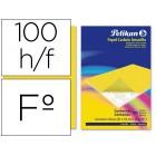 Papel quimico pelikan amarelo tamanho folio -caixa de 100 unidades
