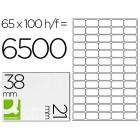 Etiquetas adesivas a4. q-connect. 38 x 21 mm