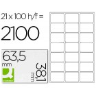 Etiquetas adesivas a4. q-connect. 63.5 x 38.1 mm