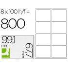 Etiquetas adesivas a4. q-connect. 99.1 x 67.7 mm