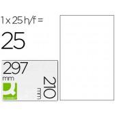 Etiquetas adesivas a4. q-connect transparente impermeavel. 210 x 297 mm