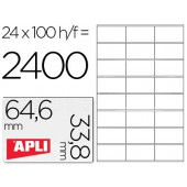 Etiquetas adesivas apli a4. apli. 64.6 x 33.8 mm