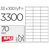 Etiquetas adesivas a4. apli. 70 x 25 mm