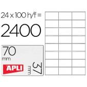 Etiquetas adesivas a4. apli. 70 x 37 mm
