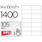 Etiquetas adesivas a4. apli. 105 x 40 mm