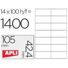 Etiquetas adesivas a4. apli. 105 x 42.4 mm