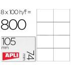 Etiquetas adesivas apli 1279 tamanho 105x74 mmmmm para -fotocopiadora -laser -tinteiro-caixa com 100 folhas din-a4